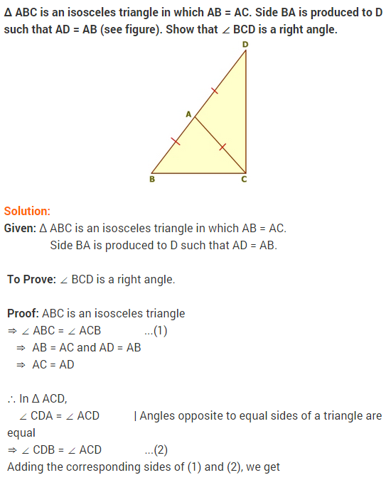 NCERT Solutions for Class 9 Maths Chapter 7 Triangles Ex 7.2 q6