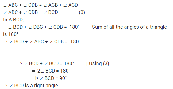 NCERT Solutions for Class 9 Maths Chapter 7 Triangles Ex 7.2 q6.1