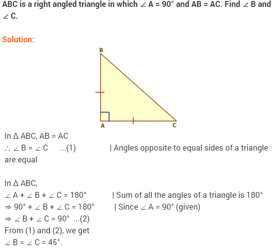 NCERT Solutions for Class 9 Maths Chapter 7 Triangles Ex 7.2 q7