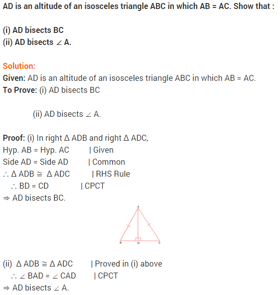 NCERT Solutions for Class 9 Maths Chapter 7 Triangles Ex 7.3 q2