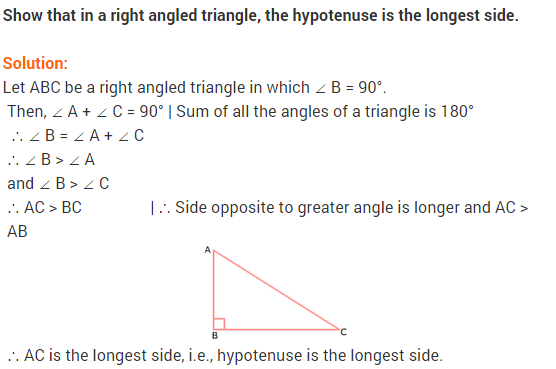 NCERT Solutions for Class 9 Maths Chapter 7 Triangles Ex 7.4 q1