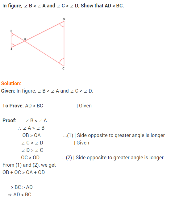 NCERT Solutions for Class 9 Maths Chapter 7 Triangles Ex 7.4 q3
