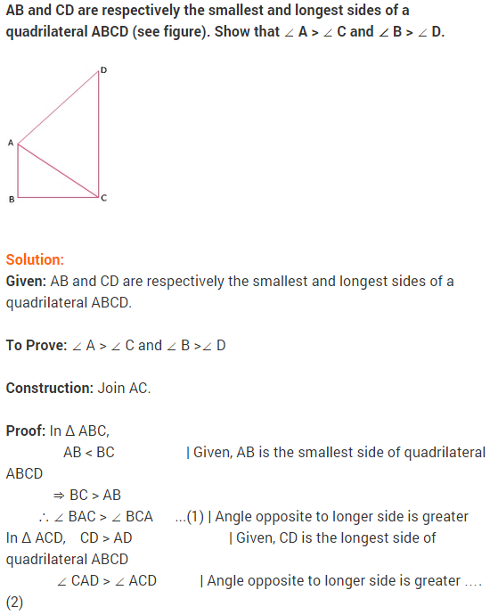 NCERT Solutions for Class 9 Maths Chapter 7 Triangles Ex 7.4 q4