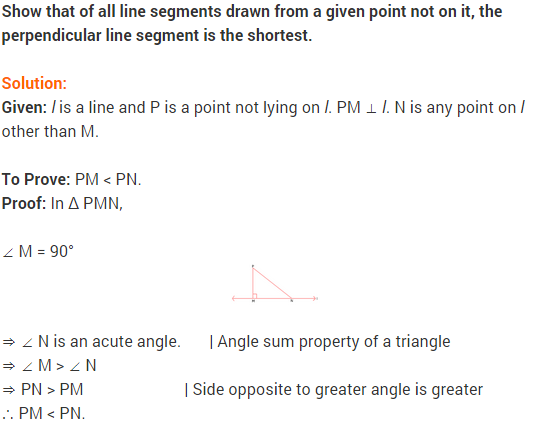 NCERT Solutions for Class 9 Maths Chapter 7 Triangles Ex 7.4 q6