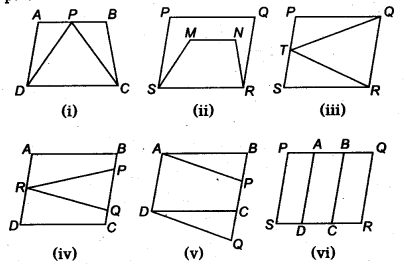 NCERT Solutions for Class 9 Maths Chapter 9 Areas of Parallelograms and Triangles Ex 9.1 Q1
