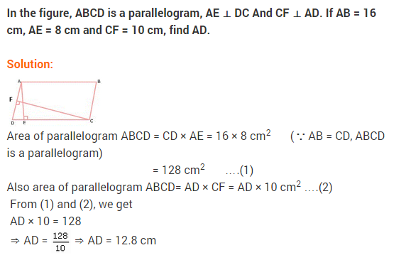 NCERT Solutions for Class 9 Maths Chapter 9 Areas of Parallelograms and Triangles Ex 9.2 A1