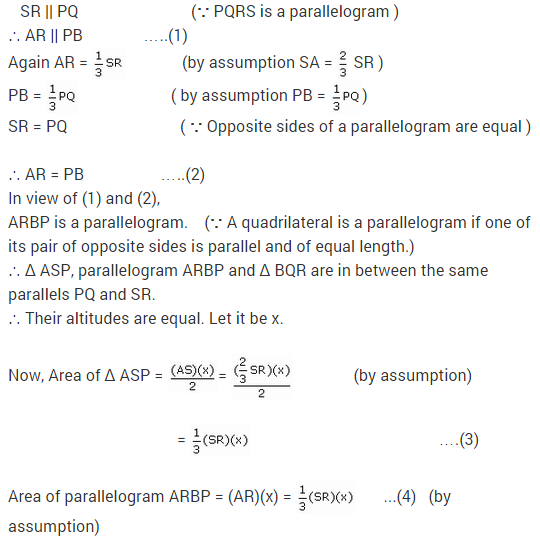 NCERT Solutions for Class 9 Maths Chapter 9 Areas of Parallelograms and Triangles Ex 9.2 A6.1