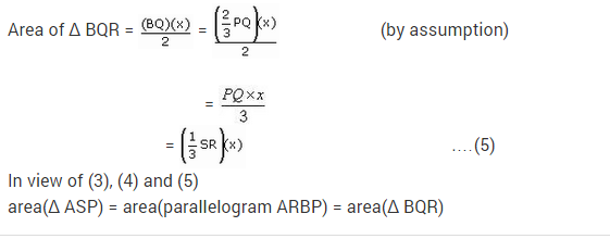 NCERT Solutions for Class 9 Maths Chapter 9 Areas of Parallelograms and Triangles Ex 9.2 A6.2