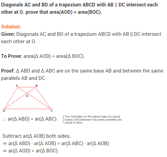 NCERT Solutions for Class 9 Maths Chapter 9 Areas of Parallelograms and Triangles Ex 9.3 A10