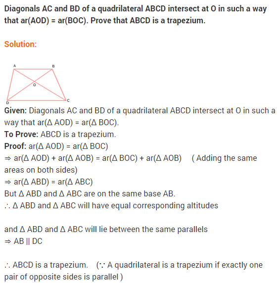 NCERT Solutions for Class 9 Maths Chapter 9 Areas of Parallelograms and Triangles Ex 9.3 A15