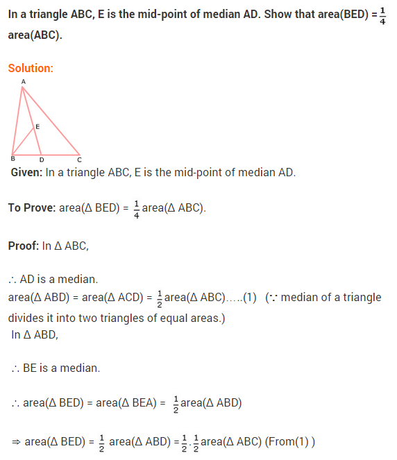 NCERT Solutions for Class 9 Maths Chapter 9 Areas of Parallelograms and Triangles Ex 9.3 A2