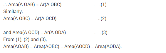NCERT Solutions for Class 9 Maths Chapter 9 Areas of Parallelograms and Triangles Ex 9.3 A3.1