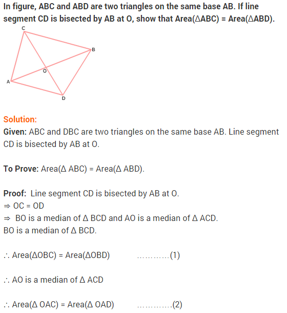 NCERT Solutions for Class 9 Maths Chapter 9 Areas of Parallelograms and Triangles Ex 9.3 A4