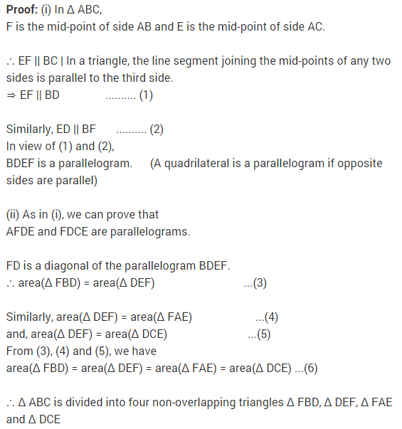 NCERT Solutions for Class 9 Maths Chapter 9 Areas of Parallelograms and Triangles Ex 9.3 A5.1