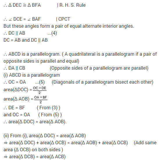 NCERT Solutions for Class 9 Maths Chapter 9 Areas of Parallelograms and Triangles Ex 9.3 A6.2