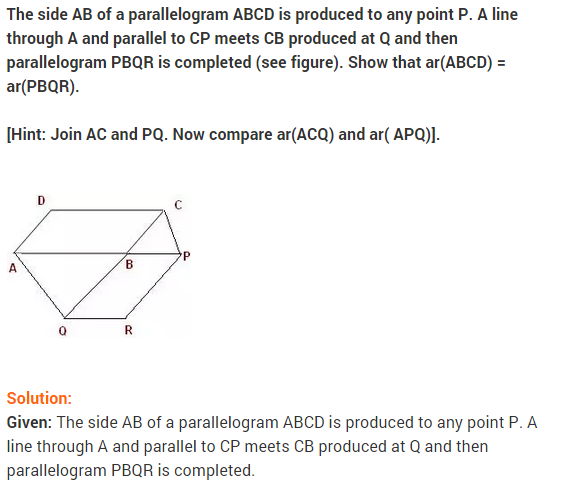 NCERT Solutions for Class 9 Maths Chapter 9 Areas of Parallelograms and Triangles Ex 9.3 A9