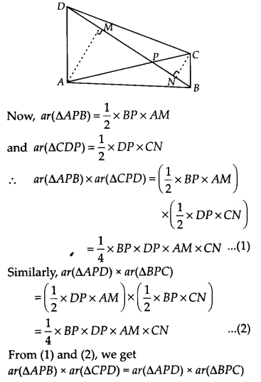 NCERT Solutions for Class 9 Maths Chapter 9 Areas of Parallelograms and Triangles Ex 9.4 Q6
