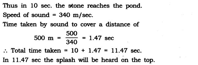 NCERT Solutions for Class 9 Science Chapter 12 Sound Extra Questions Q13.1