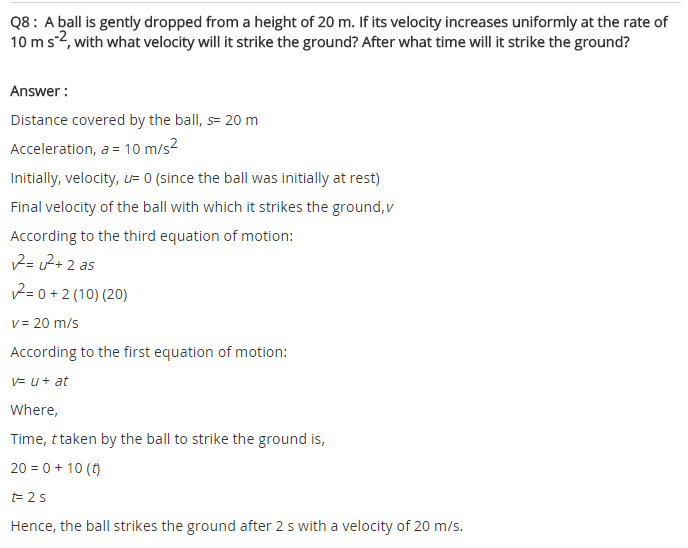 NCERT Solutions for Class 9 Science Chapter 8 Motion 18