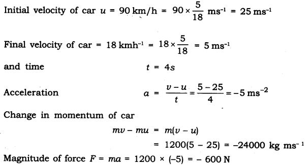 NCERT Solutions for Class 9 Science Chapter 9 Force and Laws of Motion Additional Exercises Q4