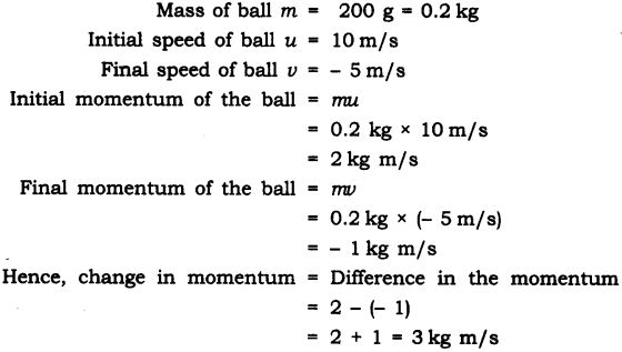 NCERT Solutions for Class 9 Science Chapter 9 Force and Laws of Motion Extra Questions Q13