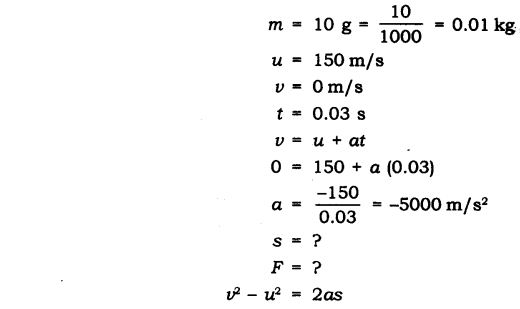 NCERT Solutions for Class 9 Science Chapter 9 Force and Laws of Motion Extra Questions Q14