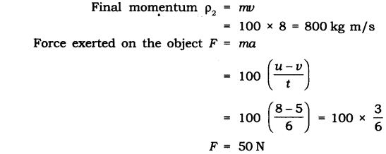NCERT Solutions for Class 9 Science Chapter 9 Force and Laws of Motion Extra Questions Q16.1