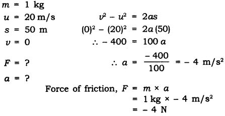 NCERT Solutions for Class 9 Science Chapter 9 Force and Laws of Motion Extra Questions Q6