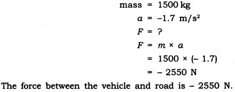 NCERT Solutions for Class 9 Science Chapter 9 Force and Laws of Motion Extra Questions Q8