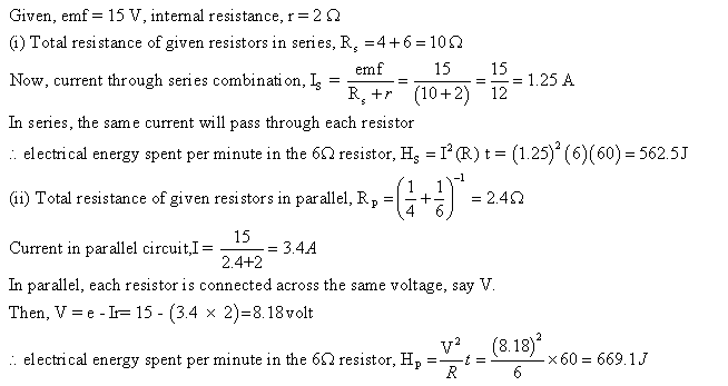 Frank ICSE Class 10 Physics Solutions Current Electricity 41