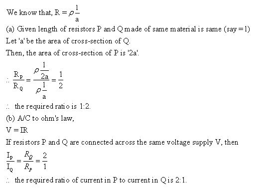 Frank ICSE Class 10 Physics Solutions Current Electricity 52