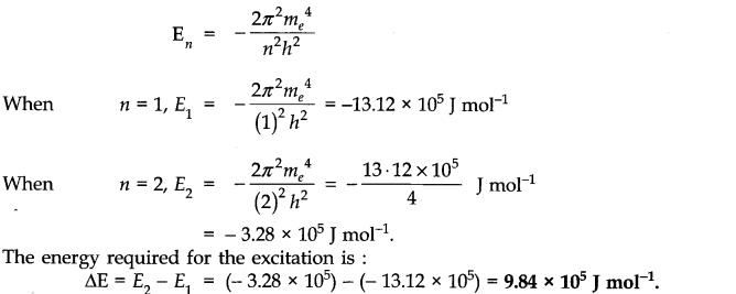 NCERT Solutions for Class 11 Chemistry Chapter 2 Structure of Atom SAQ Q8