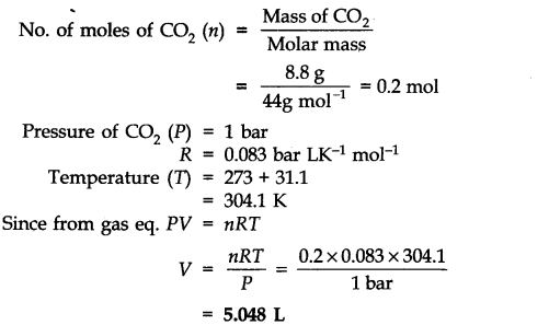 NCERT Solutions for Class 11 Chemistry Chapter 5 States of Matter Q17