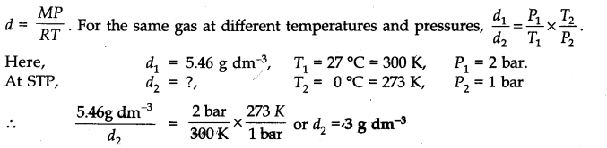 NCERT Solutions for Class 11 Chemistry Chapter 5 States of Matter Q9