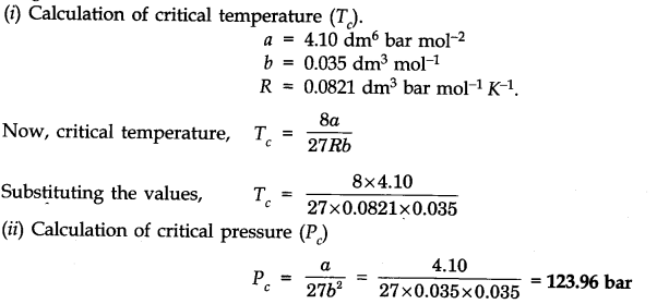 NCERT Solutions for Class 11 Chemistry Chapter 5 States of Matter SAQ Q7