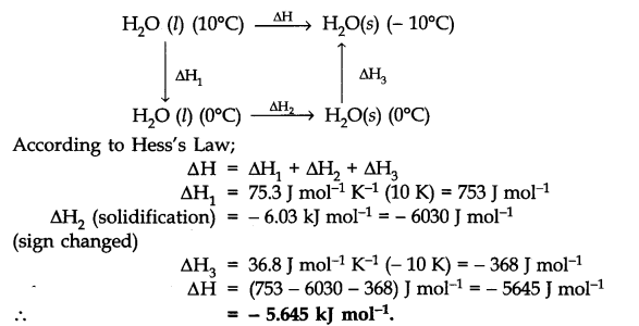 NCERT Solutions for Class 11 Chemistry Chapter 6 Thermodynamics Q10