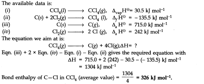 NCERT Solutions for Class 11 Chemistry Chapter 6 Thermodynamics Q15.1