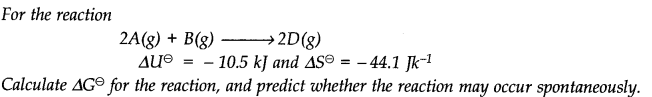NCERT Solutions for Class 11 Chemistry Chapter 6 Thermodynamics Q19