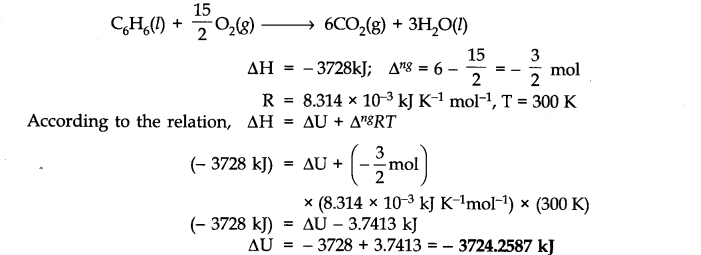 NCERT Solutions for Class 11 Chemistry Chapter 6 Thermodynamics SAQ Q1