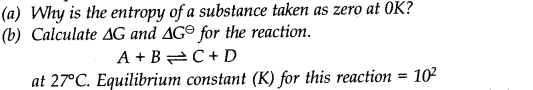 NCERT Solutions for Class 11 Chemistry Chapter 6 Thermodynamics SAQ Q11