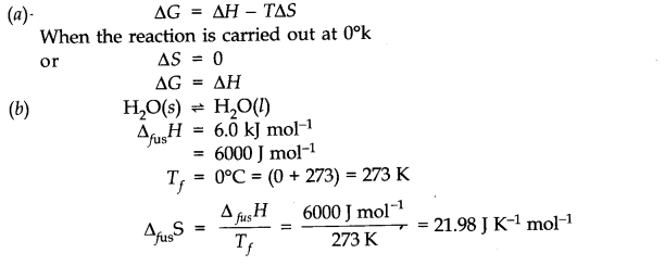NCERT Solutions for Class 11 Chemistry Chapter 6 Thermodynamics SAQ Q13.1