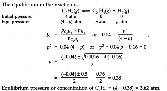 NCERT Solutions for Class 11 Chemistry Chapter 7 Equilibrium Q16.1