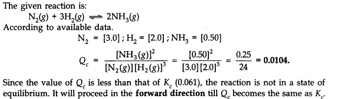 NCERT Solutions for Class 11 Chemistry Chapter 7 Equilibrium Q20.1