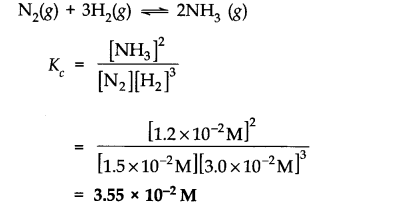 NCERT Solutions for Class 11 Chemistry Chapter 7 Equilibrium SAQ Q1