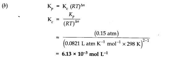 NCERT Solutions for Class 11 Chemistry Chapter 7 Equilibrium SAQ Q3.1