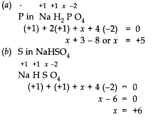 NCERT Solutions for Class 11 Chemistry Chapter 8 Redox Reactions Q1.1