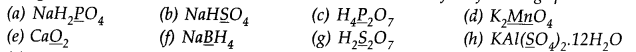 NCERT Solutions for Class 11 Chemistry Chapter 8 Redox Reactions Q1