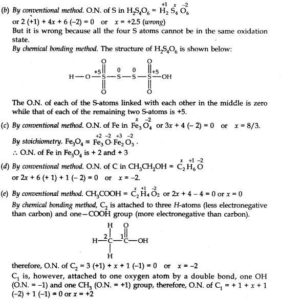 NCERT Solutions for Class 11 Chemistry Chapter 8 Redox Reactions Q2.1