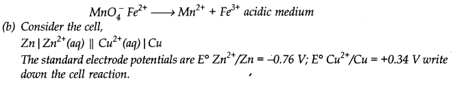 NCERT Solutions for Class 11 Chemistry Chapter 8 Redox Reactions SAQ Q8