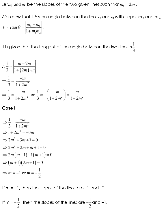 NCERT Solutions for Class 11 Maths Chapter 10 Straight Lines Ex 10.1 Q11.1